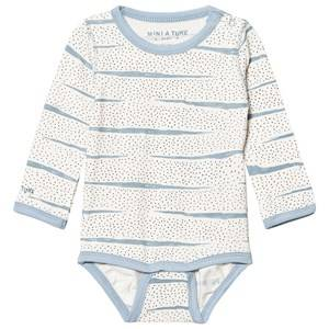 Mini A Ture Unisex All in ones Blue Yomi Baby Body Blue Fog