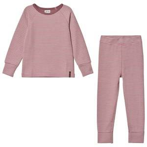 Mini A Ture Girls Baselayers Pink Merino Wool Bela K Pajamas Nostalgia Rose