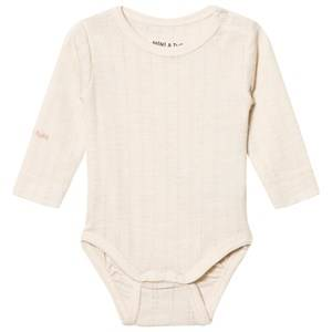 Mini A Ture Girls All in ones Beige Emmely Baby Body Sandshell