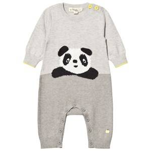 The Bonnie Mob Unisex All in ones Grey Panda Intarsia Playsuit Greys