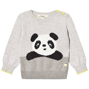 The Bonnie Mob Unisex Jumpers and knitwear Grey Panda Intarsia Sweater Greys