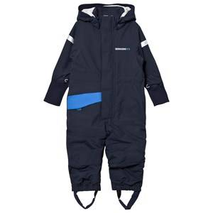 Didriksons Unisex Coveralls Blue Duved Kids Coverall Navy