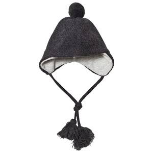Melton Unisex Headwear Grey Lamb Wool Sailor Tassel Hat Dark Grey