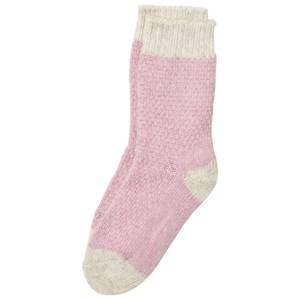 Melton Girls Underwear Pink Pearl Knit Wool Socks Rosa