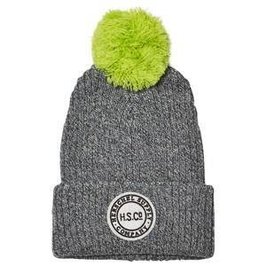 Herschel Unisex Headwear Grey Sepp Youth Beanie Heathered Grey/Neon Lime