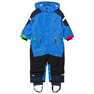 Didriksons Unisex Coveralls Blue Ale Kids Coverall Indigo Blue