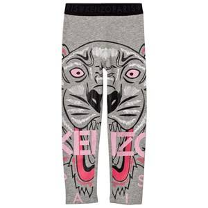 Kenzo Girls Bottoms Grey Grey Marl Tiger Print Leggings