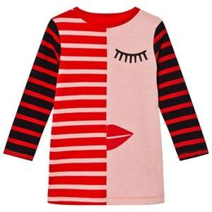Stella McCartney Kids Girls Dresses Pink Pink/Red Face Stripe Kora Dress