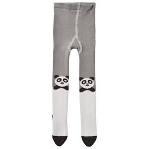 The Bonnie Mob Girls Underwear Grey Panda Tights Grey