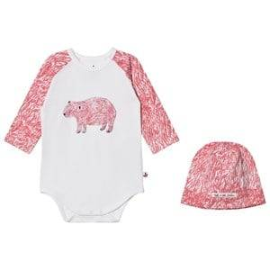 Noe & Zoe Berlin Girls Clothing sets Pink Pink Bear Hat and Baby Body Gift Set
