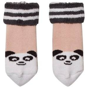 The Bonnie Mob Girls Underwear Pink Baby Bootie Panda Socks Pale Pink