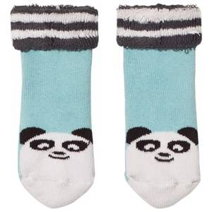 The Bonnie Mob Boys Underwear Blue Baby Bootie Panda Socks Pale Blue