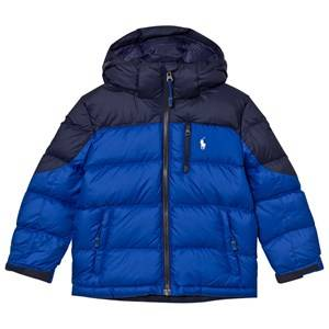 Ralph Lauren Boys Coats and jackets Blue Navy and Blue Down Puffer Coat with Detachable Hood