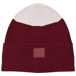 Acne Studios Unisex Headwear Red Mini Kosta Hat Burgundy
