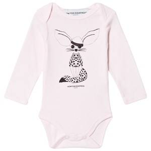 Kiss How To Kiss A Frog Girls Baselayers Pink Baby Body Fox Print Powder
