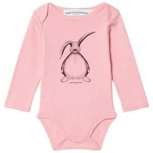 Kiss How To Kiss A Frog Girls Baselayers Pink Baby Body Hare Print Dusty Pink
