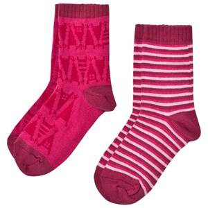 Reima Girls Underwear Pink 2-Pack Socks Sturm Pink