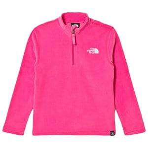 The North Face Girls Baselayers Pink Glacier Zip Fleece Sweater Pink