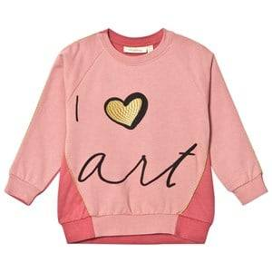 Soft Gallery Girls Jumpers and knitwear Pink Babs Sweatshirt Rosette/Faded Rose Love Art