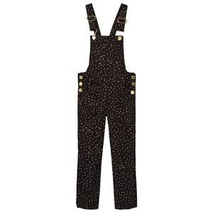 Soft Gallery Girls All in ones Black Natalie Dungaress Jet Black Dotties