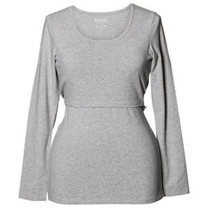 Boob Girls Maternity tops Grey Classic Top Long Sleeve Grey Melange