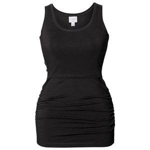 Boob Girls Maternity tops Black Athleisure Tank Top Black