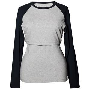 Boob Girls Maternity tops Grey B·Warmer Baseball Top Grey Melange