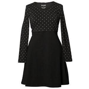 Boob Girls Maternity dresses Black Dottie Dress Black/Off White Dot