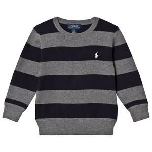 Ralph Lauren Boys Jumpers and knitwear Multi Grey/Navy Stripe Sweater