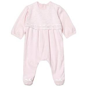 Emile et Rose Girls All in ones Pink Louise Pink Lace Footed Baby Body