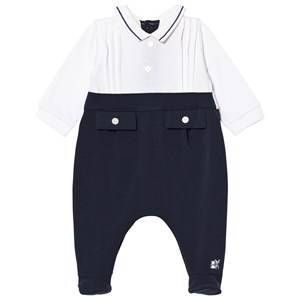 Emile et Rose Boys All in ones Navy Leonard Navy Footed Baby Body