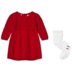 Emile et Rose Girls Dresses Red Loralie Knit Dress and Tights Set Red