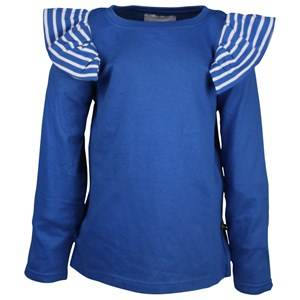 The BRAND Girls Private Label Tops Blue Flounce Tee LS Blue