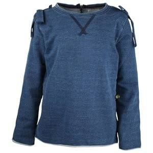 The BRAND Girls Private Label Tops Blue Bow Jegging French Terry Indigo