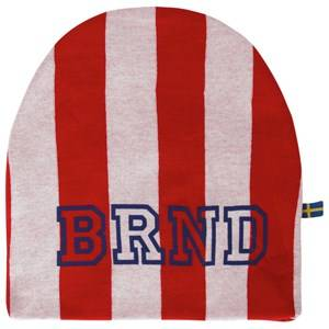 The BRAND Unisex Private Label Headwear Red Hat Red Stripe