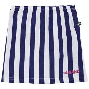 The BRAND Girls Private Label Skirts Blue Jersey Skirt Blue/White Stripe