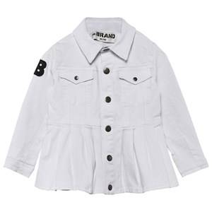 The BRAND Girls Private Label Coats and jackets White Denim Peplum Jacket Washed White