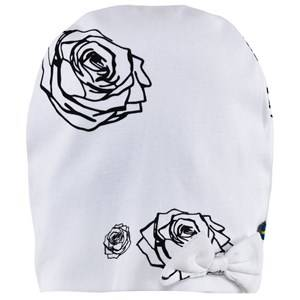 The BRAND Girls Private Label Headwear White Bow Hat White Roses