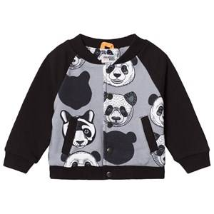 Filemon Kid Unisex Coats and jackets Grey Baseball Jacket Panda Griffin