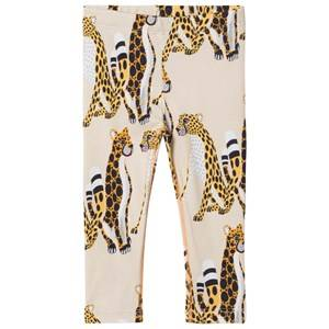 Filemon Kid Unisex Bottoms Beige Leggings Cheetahs Angora Angora
