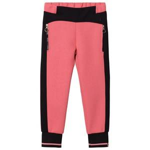 Young Versace Girls Bottoms Pink Pink/Black Neoprene Track Pants