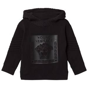 Young Versace Boys Jumpers and knitwear Black Black Rubberised Medusa Print Hoodie