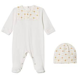 Young Versace Unisex Clothing sets Gold White/Gold Footed Baby Body and Beanie Gift Box