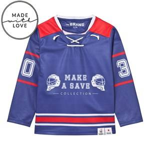 The BRAND Unisex Jumpers and knitwear Red Make A Save Hockey Jersey Red/Blue