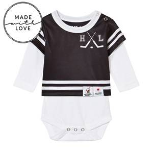 The BRAND Unisex All in ones Black Make A Save Baby Body Black/White