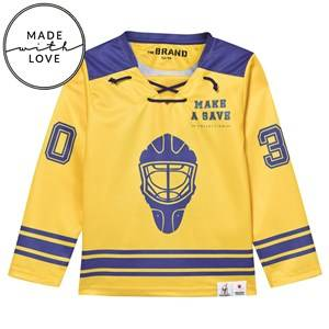 The BRAND Unisex Jumpers and knitwear Blue Make A Save Hockey Jersey Blue/Yellow
