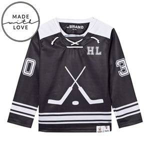 The BRAND Unisex Jumpers and knitwear Black Make A Save Hockey Jersey Black/White