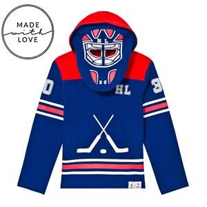 The BRAND Unisex Jumpers and knitwear Red Goalie Hoodie Red/Blue