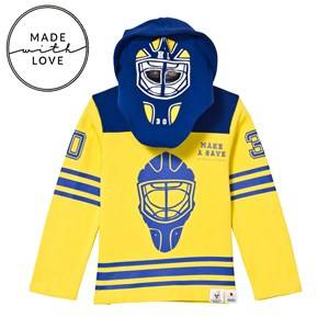 The BRAND Unisex Jumpers and knitwear Blue Goalie Hoodie Blue/Yellow
