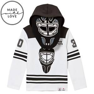 The BRAND Unisex Jumpers and knitwear Black Goalie Hoodie Black/White